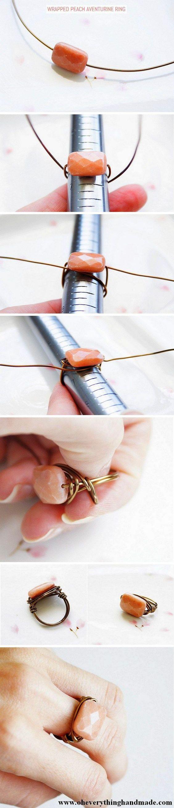 comment fabriquer bague fil aluminium